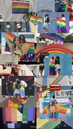 – calle y poche – Rainbow Wallpaper, Cute Wallpaper Backgrounds, Cute Wallpapers, Aesthetic Pastel Wallpaper, Aesthetic Wallpapers, Gay Aesthetic, Rainbow Aesthetic, Lesbian Pride, Tumblr Boys