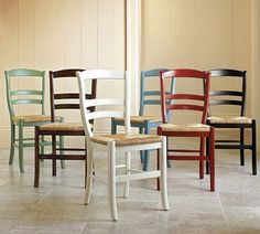 contemplating for our kitchen.  Cant decide to mix or all match.  Pottery Barn Isabella chairs