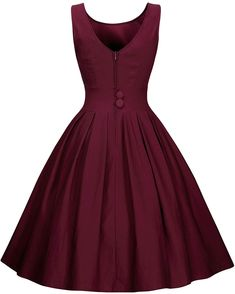 Miusol Women 's Elegant Round Neck Neckholder Kleid 1950 Retro Cocktailkleid Plissee … Elegant Prom Dresses, Homecoming Dresses, Cute Dresses, Beautiful Dresses, Vintage Dresses, Short Dresses, Summer Dresses, Formal Dresses, Girls Dresses