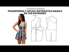 Tranforma tu patron y aplica Matematica basica en tus patrones/Feller - YouTube Unif, Pattern Drafting, Dress Sewing Patterns, Corset, Strapless Dress, Crop Tops, Summer Dresses, Youtube, How To Make