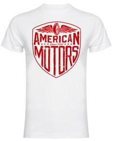 American Motors T-Shirt (White) American Motors, Kustom Kulture, Motorcycle, Hot, Cotton, Mens Tops, T Shirt, Clothes, Supreme T Shirt