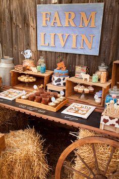 Komplette druckbare Sammlung für eine Farm-Geburtstagsparty / Geburtstagsfeier Farmyard