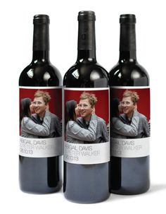 Custom Photo Wine Labels... this would be super cute to print Christmas photos on wine bottles for neighbors Christmas gifts :)