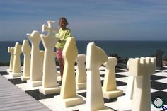 """Complete Foam Set with 48"""" King. If you want to inspire kids to play chess, you have to draw them in. Few things will do that as well as an intellectual pillow fight. Take a piece by kicking it across the room, or tossing it at your opponent. Least expensive chess set with a 4 foot king in the world!"""