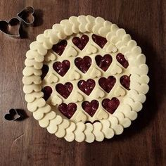 cherry hearts pie