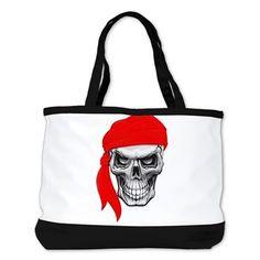 Red Skull Shoulder Bag