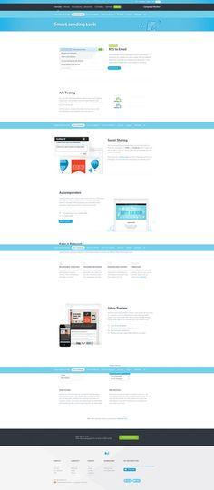 http://www.campaignmonitor.com/features/send/ interessante oplossing om visuele presentaties te maken - USP's . Aantrekkelijk, niet te veel in your face, wel extra attentie-waarde & extra verklarend