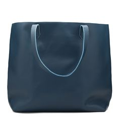 Cuyana- Classic Leather Tote-  navy