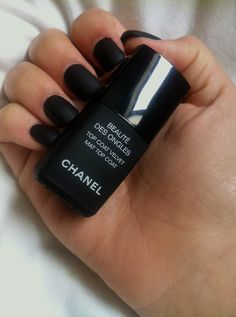 chanel black velvet nails.