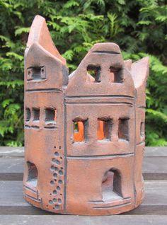 Ceramic Middle Age Village as Wind Light or Garden Light (Garden Decoration) - getöpfertes Keramik Mittelalter Dorf als Windlicht oder Gartendeko