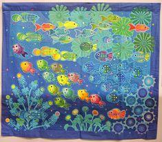 Mola fish quilt by Yasuko Kawaguchi.  2015 Tokyo Quilt Show.  Photo by Julie Fukuda | My Quilt Diary