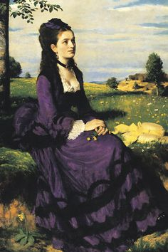 Pál Szinyei Merse. Lady in Violet, 1874.