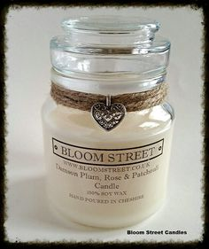 Lots of beautiful handmade soy wax scented candles over at Www.bloomstreet.co.uk  #scentedcandles #handmade #soywaxcandles