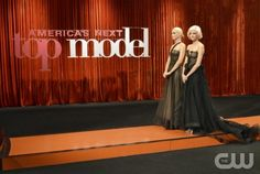 """""""Season Finale"""" -- Kelly Cutrone and Nigel Barker join Jay Manuel and Tyra Banks on the judges' panel to choose the winner on America's Next Top Model on The CW.  pictured left to right: Laura and Sophie Cycle 18 Photo: Walter Sassard/The CW ©2012 The CW Network, LLC. All Rights Reserved"""
