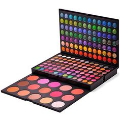 Cosmetics USA - RoseFlower Pro 183 Colors Eyeshadow Makeup Palette Cosemetic Contouring Kit Combination with Concealer and Blusher - Ideal for Professional and Daily Use Makeup Kit For Kids, Kids Makeup, Cute Makeup, Makeup Brush Set, Casual Makeup, Party Makeup, Wedding Makeup, Makeup Contouring Kit, Makeup Eyeshadow Palette