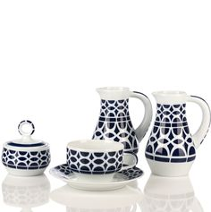 Sargadelos Galicia Porcelain Ceramics, China Porcelain, Best Places To Live, Coffee Set, Tea Pots, Pattern Design, Spain, Objects, Design Inspiration