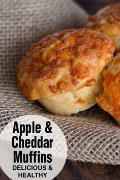 Apple cheddar muffins are great as a snack or as a side to your dinner. They're moist and tender, but also hearty and filling. Great with fall soups and stews! Gourmet Recipes, Baking Recipes, Snack Recipes, Snacks, Apple Recipes Savory, Bisquit Recipes, Apple Muffins, Cheese Muffins, Muffin Recipes