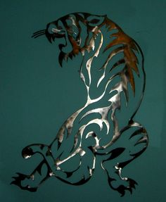 plasma cut tiger