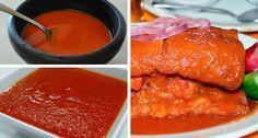 Salsa para Tortas Ahogadas | Además de la clásica salsa de jitomate, la salsa picante es la característica de una torta ahogada... Ingredientes para la Salsa Picante: 50 gramos de chile de árbol 1 taza de agua 1 trozo de cebolla 2 dientes de ajo Media taza de vinagre blanco Sal al gusto Preparación: 1. Cuece los chiles de árbol con ajo y cebolla. 2. Una vez cocidos, muélelos con la taza de agua, el vinagre y la sal al gusto.