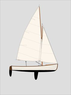 Sailing Dinghy, Catamaran, Sailing Ships, Nautical Painting, Small Sailboats, Wooden Boat Building, Wood Boats, Water Crafts, Rigs