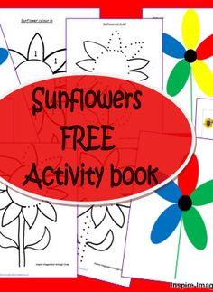 Free Sunflower Activity Book for Kids from Inspire Imagination through Creation at B-InspiredMama.com