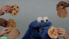 Cookie Monster Eating GIF by Sesame Street Cookie Monster Eating Cookies, Ice Cream Wallpaper Iphone, Gifs, Eating Gif, Healthy Food Quotes, Sesame Street Cookies, Food Wallpaper, Kermit The Frog, Perfect Cookie