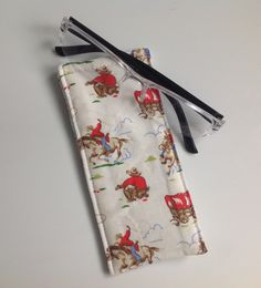 Cath Kidston Cowboy Fabric Glasses Case by sewmoira on Etsy