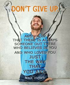 Don't give up.