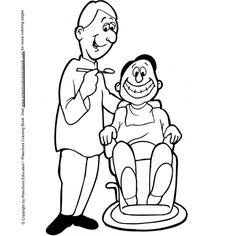 dental coloring page - Community Helpers Coloring Pages