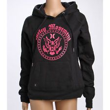 BNWT Lady Hurley pullover jumper fleece hoody Black  S