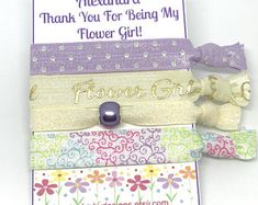 Party favors hair ties jewelry and accessories by SoSplashyDesigns Elastic Hair Ties, My Flower, Party Favors, Decorative Boxes, Etsy Seller, Create, Accessories, Jewelry, Hair Tie