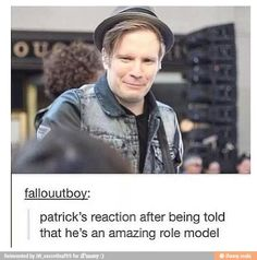 Aw, Patrick! You are my biggest inspiration, as a person and a musician! ❤❤