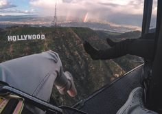 LA Hollywood Sign Shoe Selfie with FlyNYON. Doorless Helicopter Flights taking Aerial Photography to New Heights! Shoe Selfie, Hollywood Sign, Insta Photo Ideas, Aerial Photography, New York City, Las Vegas, Places To Go, Tours, World