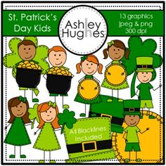 St. Patrick's Day Kids {Graphics for Commercial Use}