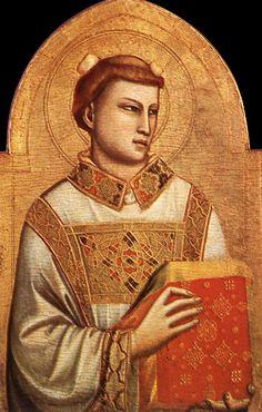 Giotto di Bondone ~ Saint Stephen, 1320-25