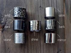 Wählen Sie eine Textur / 15 cm Rohr Ring / breite von AshkalJewelry