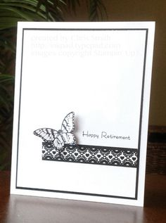 Retirement Butterfly by inkpad - Cards and Paper Crafts at Splitcoaststampers