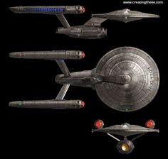 Doug Schramm redesign of the original Enterprise I would've loved for the NX to look like this. Sigh.