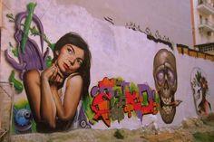 graffity - Navarino Sq, Thessaloniki, HELLAS Thessaloniki, Illustrators, Graffiti, My Photos, Mona Lisa, Street Art, Marvel, Artist, Artwork