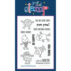 Your Next Stamp Clear Stamps - Cute Foodies
