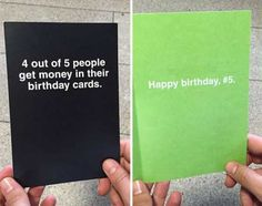 diy birthday cards for friends creative Hilarious Greeting Cards That Will Surprise You When You Open Them Birthday Cards For Friends, Funny Birthday Gifts, Diy Birthday, Friend Birthday, Birthday Quotes, Funny Sister Birthday Cards, Meme Birthday Card, Funny Cards For Friends, Humor Birthday