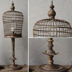 Metal Birdcage Lamp