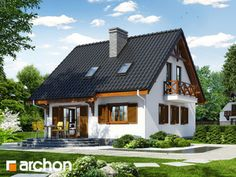 Dom w poziomkach 3 (P) Home Fashion, Facade, Beautiful Homes, Diy And Crafts, Cabin, House Styles, Houses, Home Decor, House Of Beauty