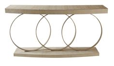 Bring that worldly and rustic vibe into your sitting room with this geometric sofa table.