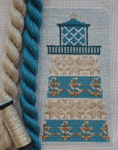 Kirk & Bradley Needlepoint Anchor Ornament is off to the finisher!