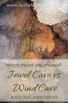 Which is better: Jewel Cave vs Wind Cave? We wondered this before our Black Hills family vacation and visited both caves in the end. They're both good, but if you can only do one, we list the differences in this post | tipsforfamilytrips.com | South Dakota | summer vacation