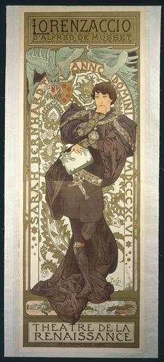 Alphonse Mucha 1860 ~ 1939; Looks like Sherlock Holmes at first glance...