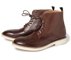 Adams Brown (£110.00) - We love a brogue at Hudson and this new mens leather boot Adams exhibits this beautifully.  Fusing the contemporary ...