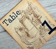 Fairytale wedding table number signs castle name or by 0namesleft, $20.00