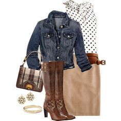 ooohhhh look at this fantastic outfit for fall !  I already have the jean jacket now i need the rest !